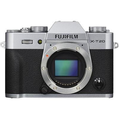 Fujifilm X-T20 Mirrorless Digital Camera (Body, Silver) - USA Authorized Dealer!