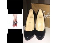 Ladies black louboutin shoes size 5uk