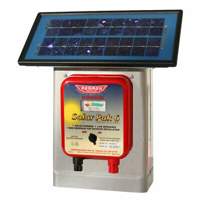 Parmak Solar Pak 6 Df-sp-li Low Impedance Electric Fence Charger Solarbattery