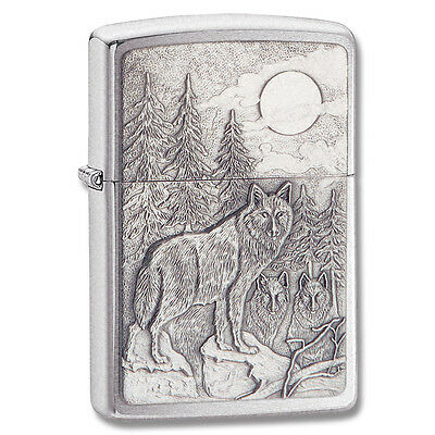 Zippo Lighter Timberwolves Emblem Lighter Brushed Chrome 20855 on Rummage
