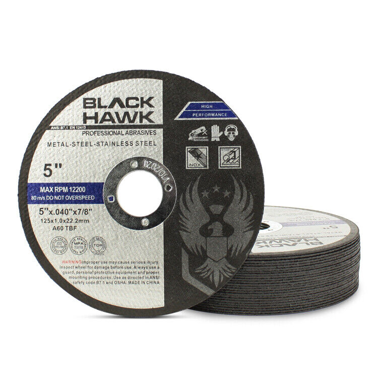 """25 Pack 5""""x.040""""x7/8"""" Cut-off Wheel - Metal & Stainless Steel Cutting Discs"""