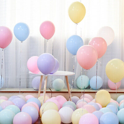 Pack of 100 Candy Colored Party Balloons Pastel Latex Balloons 10 Inch - Pastel Color Balloons