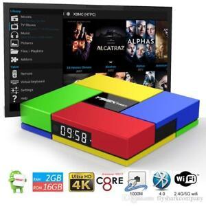 T95K Android 7.1.2 Smart TV BOX Kodi OCTA Core 2gb 16gb