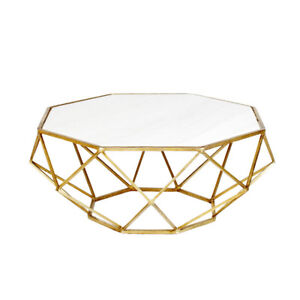 Mid Century Modern Octagon Marble Coffee Table