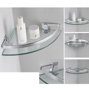 corner shleves wall mounted triangle single bathroom glass shelf 254