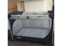 Unisex joie 2 level travel cot