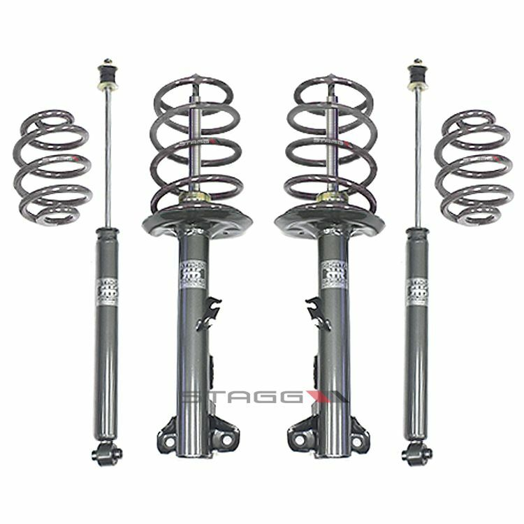 STAGG 4 SHOCKS STRUTS & 4 LOWERING SPRINGS BMW Z3 COUPE & ROADSTER 96 - 02
