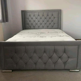 Luxury Divan Bed Frame w/ Fabric Surrounds