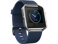 Fitbit Blaze Wireless Activity and Sleep Tracking Smart Fitness Watch, Large, Blue RRP £160