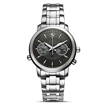 Original BMW Damen Armbanduhr Zifferblatt schwarz Edelstahl Teilenummer: 2365449