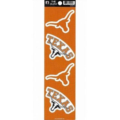 texas longhorns college ncaa logo team sticker quad set auto car decal usa made