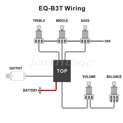 2 amp 3 band active guitar bass eq preamp circuit tone volume pots 2 sets active eq preamp circuit 2 band 3 band balance volume for pickup volume master 2 band eq premap circuit 1 volume 2 tone pots balance