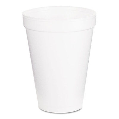 Dart Foam Drink Cups 12oz White 1000/Carton 12J16