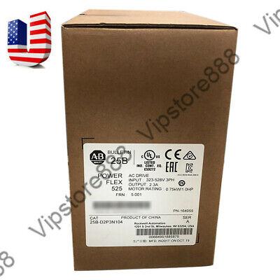 Us Stock Allen-bradley Powerflex 525 2.2kw 3hp Ac Drive 25b-d6p0n104 Fda