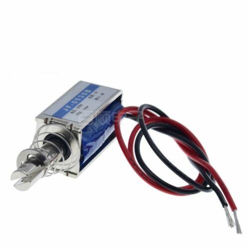 1PCS JF-0530B DC12V 300mA 5N/10mm Pull-Push-Type DC Solenoid Electromagnet
