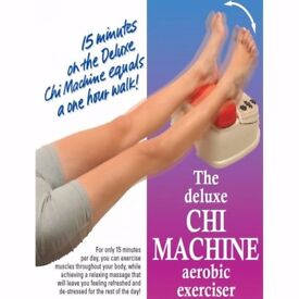 CHI MACHINEFOOT MASSAGER CHI MACHINE INFRA RED DEEP HEAT MASSAGER FOR BOTH FEET USED TWICE MINT CON