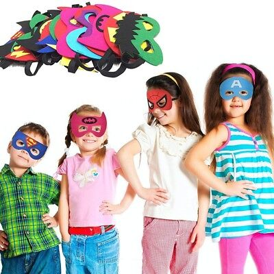 24 Piece Superheroes Masks for Boys and Girls Halloween Birthday Dress-up Party - Dress Up Clothes For Boy