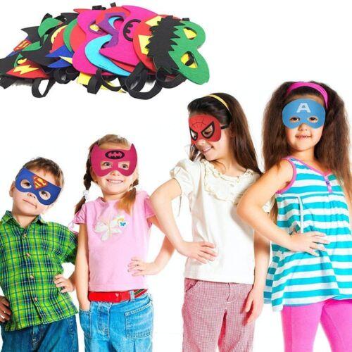 24 Piece Superheroes Masks for Boys and Girls Halloween Birt
