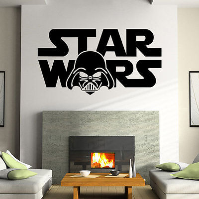 Removable Star Wars Wall Stickers living Room Bedroom Mural Decal Home Decor Art - Star Wars Bedroom Decorations