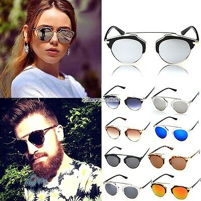 Aviator Sonnenbrille (Unisex Damen Herren Mode Aviator Spiegel Linse Sonnenbrille Retro Retro Brillen )