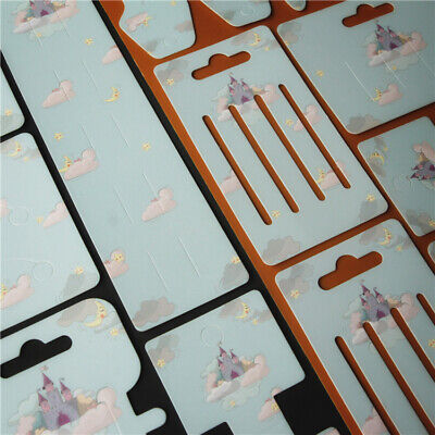 100pcs Jewelry Display Cards Paper Hairpin Hair Clip DIY Packaging Labels Tags