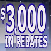 ". . . CANADIAN WINDOWS . . .  "" FACTORY REBATE $ 3000 """