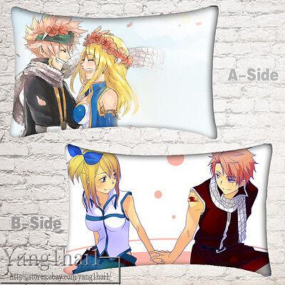 Dakimakura Pillow Case FAIRY TAIL Anime Otaku Unisex Bedding Birthday Gift#OK-93