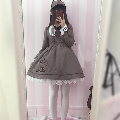 New Style Clothes For Girls (New Detective Style Retro Style Dress For Girls Students Cute)
