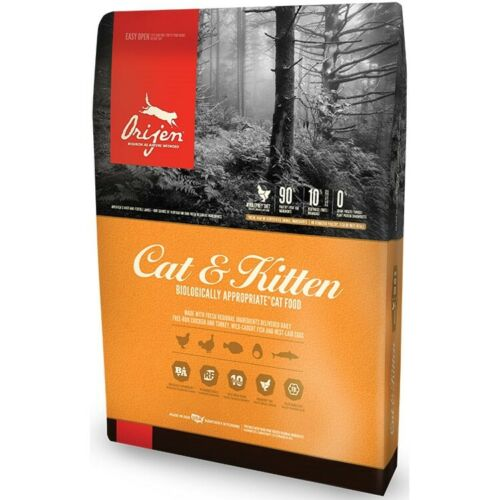 New ORIJEN CAT AND KITTEN GRAIN FREE DRY CAT FOOD 12LB - Free Ship