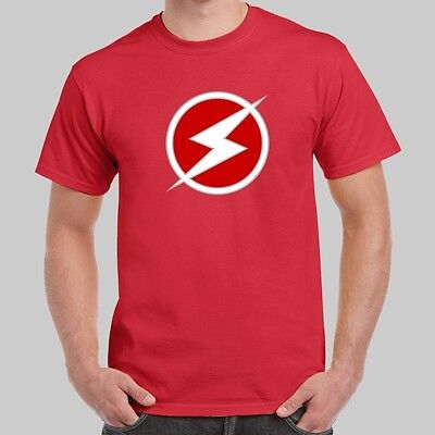 Wally West Kid Flash Logo The Flash Red T-shirt USA Size ()