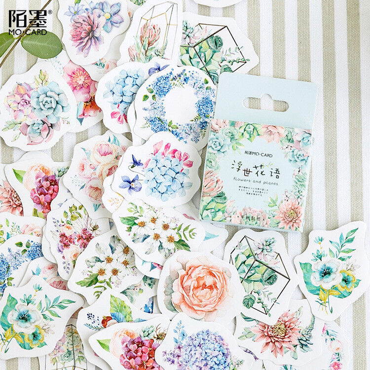46pcs Cute Journal Stickers DIY Scrap Booking Diary For Photo Album Tag Decorate