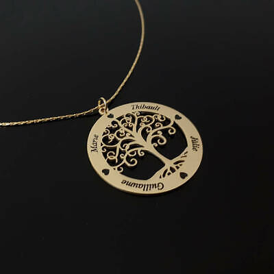 Family Childrens Names Necklace Gift Ideas For Mothers Day Tree Of Life Pendant  - Mothers Gift Ideas