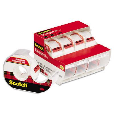 Scotch Transparent Tape Handheld Dispenser 34 X 850 1 Core Clear 4pack
