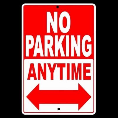 No Parking Anytime Double Arrows Sign Metal Block Towed Security Vehicle Snp003