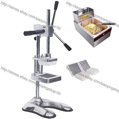 Restaurant Commercial Manual French Fry Potato Cutter Slicer With Electric Fryer