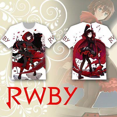 Anime Rwby Ruby Rose T Shirt Tee Tops Summer Short Sleeve Multicolor Otaku Loli