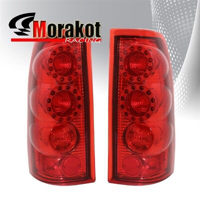 Chevy Silverado 99-06 LED Altezza Brake Tail Lights Chrome Housing Red Lens for sale  Shipping to Canada