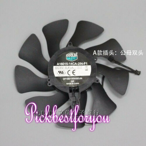 Cooler Master A16015-14CA-2IN-F1 DC5V 0.45A 16*1.5CM 2wire cooling fan #M88C QL