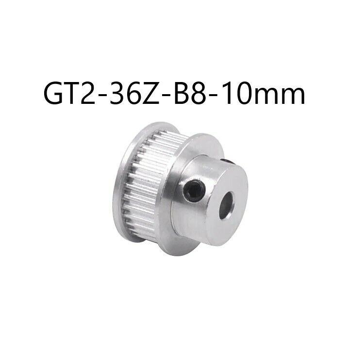 GT2 Zahnrad - Pulley 36Zähne 10mm Ø 8mm Riemenscheibe - CNC / 3D Drucker