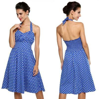 50 S Clothes For Women (50s Vintage Retro Polka Dot Dress Rockabilly Swing Pinup Evening Party US)