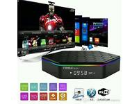 T95Z PLUS OCTACORE tv box ready to plug and play + buffer free live sports& tv