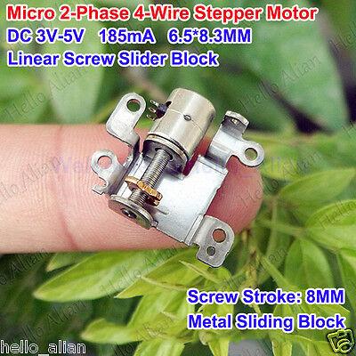 Dc 5v Micro 2-phase 4-wire Stepper Motor Linear Screw Slider Block For Camera