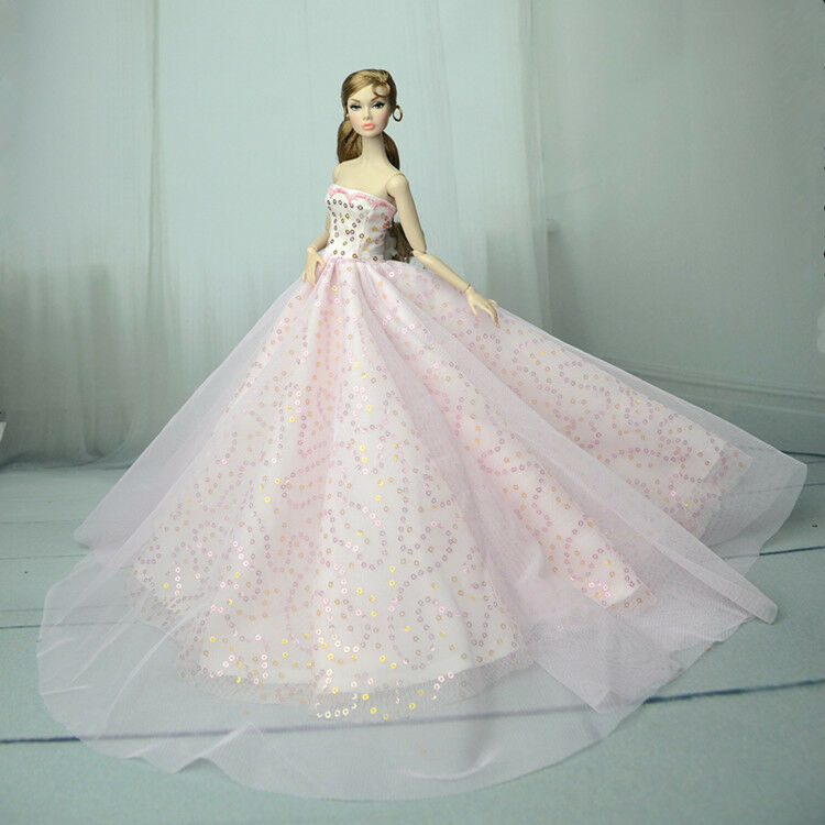 Pink Fashion Royalty Princess Dress/Clothes/Gown For Barbie Doll S555