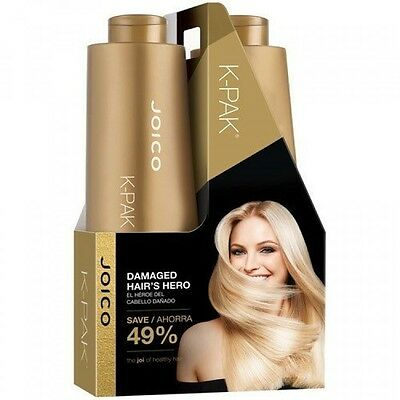 Joico KPak Shampoo and Conditioner Liter Duo Set, 33.8 oz, New, Free Shipping