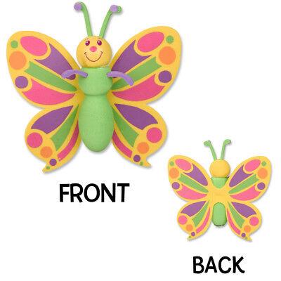 Tenna Tops®  Pretty Butterfly Car Antenna Topper / Antenna Ball / Mirror Dangler - Antenna Toppers