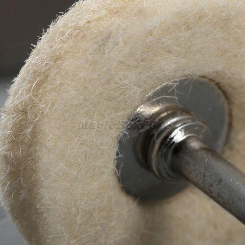 10 Polish Brush Wool Cotton Wheel Aceessory f// Rotary Tool Drill Power Grinding