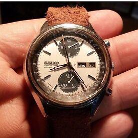 Original seiko hand watch _ model 6138-8020 Panda