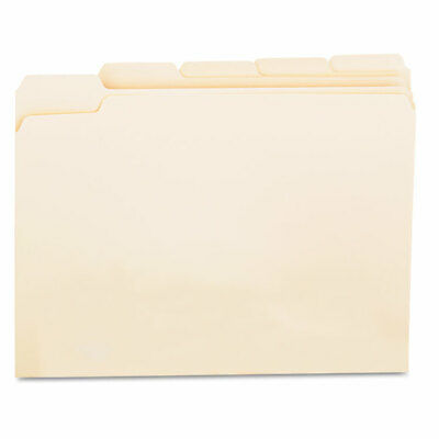 Universal File Folders 15 Cut Assorted One-ply Top Tab Letter Manila 100box