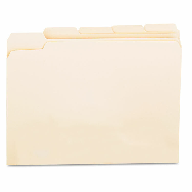 UNIVERSAL File Folders 1/5 Cut Assorted One-Ply Top Tab Letter Manila 100/Box