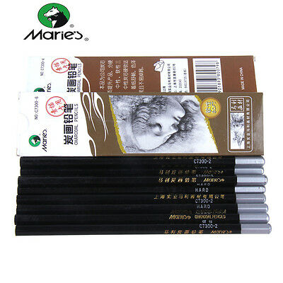 Pencil Charcoal Drawings - Marie's Sketch Pencil Charcoal Artist Painting Drawing Soft Hard Craft Art